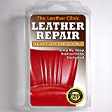 BRIGHT RED Leather Sofa & Chair Repair Kit for tears holes scuffs with colour dye