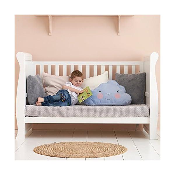 East Coast Kensington Sleigh 2 Piece Nursery Room Set Plus Mattress - White East Coast  2