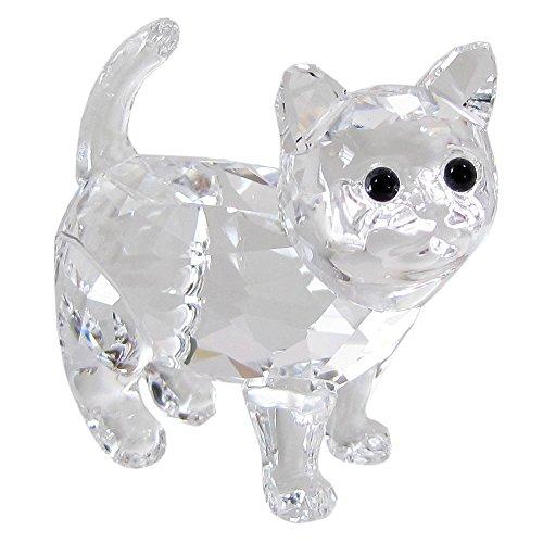 Swarovski gattino figura, cristallo, trasparente, 3.4x 3.4x 1.7cm