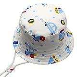 Langzhen Estate Motivo Stampato Asciugatura Traspirante Berretto per Bambino Cappello Bambino con Visiera Cappello da Sole da Spiaggia Cappello da Pescatore