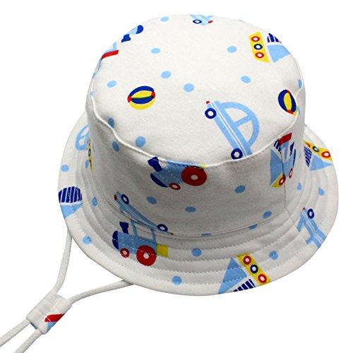 Langzhen Baby Kids Bucket Hat Boys Girls Reversible Summer Beach Cap with Adjustable Chin Strap