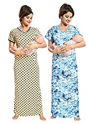 0d660172a2 Tucute Women Beautiful Polka Dotts print with invisible Zip + Floral Print  Feeding   maternity