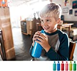 MEPAL Rosti Trinkflasche Pop-up Campus 400 ml – Blau, von 5 bis 10 Jahre - 4