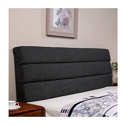 YXLBZ Kopfteil Bett Rückenlehnenkissen Sofa Großes Kissen Gepolstertes Lendenbein Leinen Hautfreundlich, 6 Farben, 12 Größen K (Farbe : A, größe : 200x60x5cm)