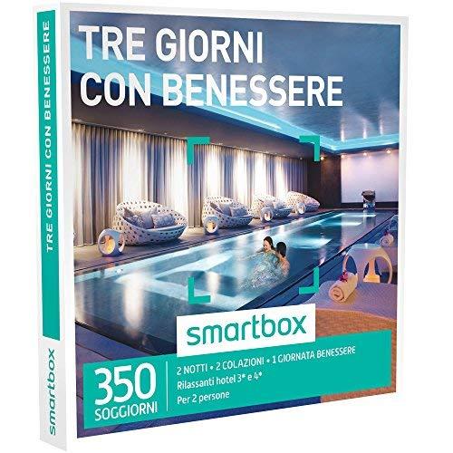 Smartbox - tre giorni con benessere - 350 soggiorni con benessere in hotel 3* e 4*, cofanetto regalo
