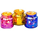 The Esthetic Label Glass Antique Jar Votive Holders (5.75 Cm X 5.75 Cm X 6.25 Cm, Pack Of 3)