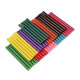 50Pcs Mehrfarbig 7 X 100mm Heißklebesticks Heißklebestifte für Plastik holz Papier