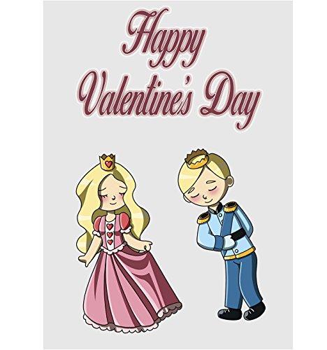 Valentines Karte-Cute Cartoon Paar Prinz und die Prinzessin (Karte König Valentines)