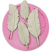 Moule silicone plume pour pâte à sucre amande fimo résine