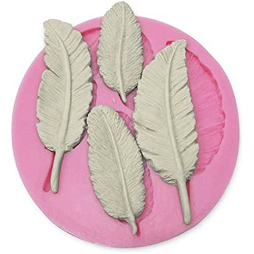 figuras kawaii porcelana fria CLE DE TOUS - Molde De Silicona Forma con Hojas 3D para fondant, azúcar estirado, helado, porcelana fría, velas, pasta de goma, caramelos, mantequilla, glasé real, arcilla, pastillage, mazapán, chocolate, gelatina, jabón