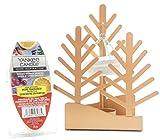 1x bruciatore ufficiale Yankee Candle Winter Village albero natalizio da parete vassoio cera calda con 6speziata bacche Cube crostate