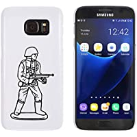 Azeeda White 'Army Figure' Case/Cover for Samsung Galaxy S7 (MC00170892)