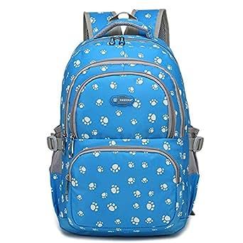 Minetom Mode Kinder Teenager Mädchen Schulrucksack Freizeitrucksack Daypacks mit der Großen Kapazität Blau