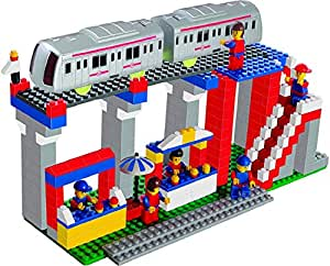 Luxula Metro Station 355 pcs Interlocking Building Blocks Set for Kids (Multicolor)