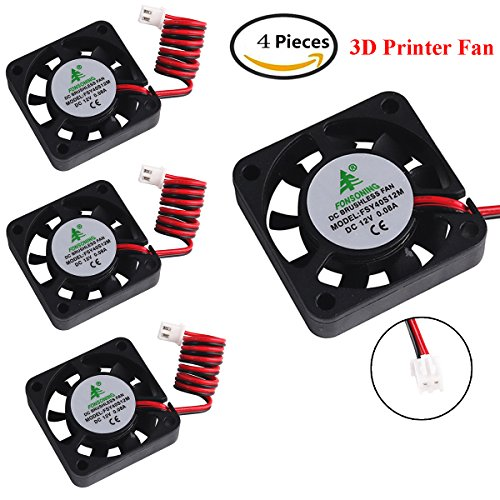 MakerHawk 4pcs 3D Printer Fan 12...
