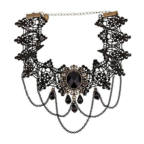 Joyería de Collar de Cristal Gargantilla Gótico del Cordón Cadena B