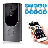 KOBWA Wi-Fi Enabled Video Doorbell, 720P HD Doorbell Camera with Two-Way Talk & Video, PIR Motion Detection, IR Night Vision Wireless Video Doorbell Support IOS, Android, Windows