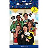 Graduation Party Photo Booth Prop Cutouts Decoration, Plastic, Pack of 13.