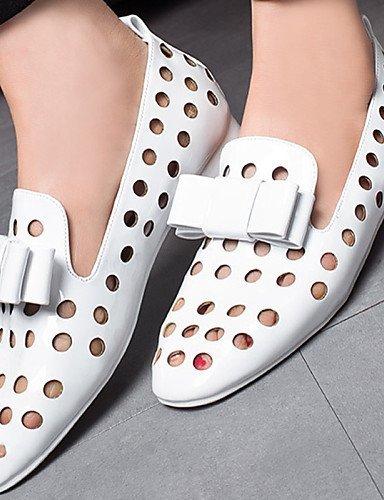 ShangYi gyht Scarpe Donna-Scarpe col tacco-Ufficio e lavoro / Formale / Casual / Serata e festa-Tacchi-Quadrato-Vernice-Nero / Bianco Black