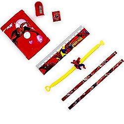 Aapno Rajasthan Red Spiderman Pouch Box & Rakhi Kids Hamper
