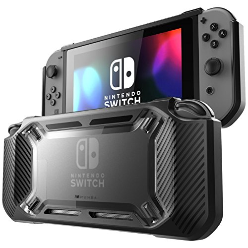 Asl Pro (Mumba Hülle für Nintendo Switch, [Rugged] Gummiert Case Harte Schutzhülle Schwerlast Cover für Nintendo Switch 2017 Ausgabe (Schwarz))