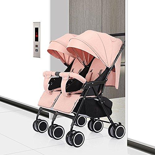 Unbekannt Tragbar Baby Jogger City Mini GT Kinderwagen Stoßdämpferreifen (Farbe : Pink) - Double City Mini Jogger