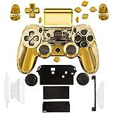 kwmobile Carcasa para control de consola Playstation 4 en oro