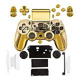kwmobile Controller Gehäuse für Playstation 4 Controller CUH-ZCT1 Konsole in Gold