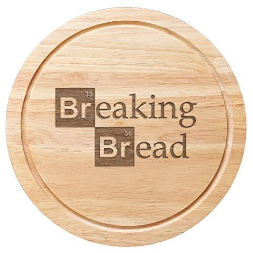 Tagliere per pane in legno, 25 cm, motivo breaking bad (versione inglese)