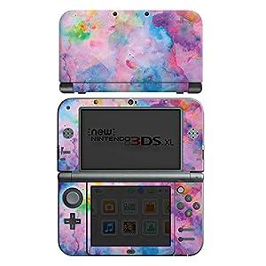 DeinDesign Skin kompatibel mit Nintendo New 3DS XL Folie Sticker Wasserfarbe Malerei Farbe