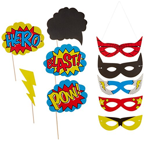 Party Photo Booth Requisiten & Masken - Comic Superhelden (Superman Party Supplies)