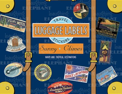 Sunny Climes: 20 Vintage Luggage Label Stickers