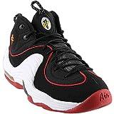 Nike Men's Air Penny II Black/White/University Red Basketball Shoe 9 Men US