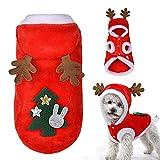 EisEyen, Pullover per Cani, Cuccioli di Natale, Abbigliamento per Cani, Cappottino per Cani, Cappottino per Vestiti per Cani, Caldo e alla Moda, con Cappuccio