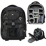 Case4Life SLR-Kamerarucksack Tasche mit Stativ-Halter + Regenschutz für Canon EOS inc 1300D, 1200D, 100D, 1100D, 80D, 700D, 750D, 760D, 70D, 600D, 500D, 5D, 5DS, 400D, 6D, 650D, 1000D, M3, M5