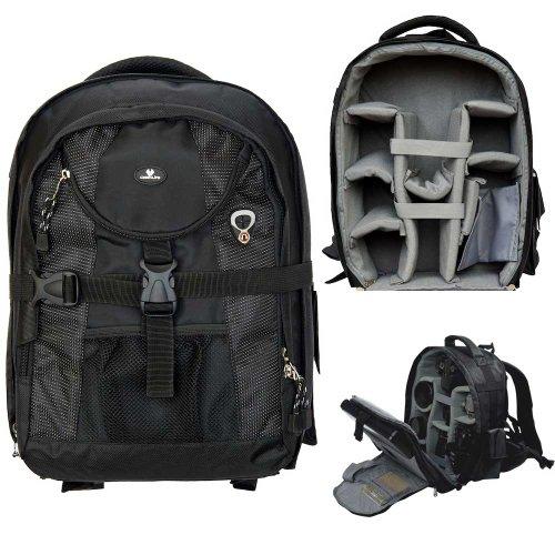 Case4Life SLR-Kamerarucksack Tasche mit Stativ-Halter + Regenschutz für Canon EOS inc 1300D, 1200D, 100D, 1100D, 80D, 700D, 750D, 760D, 70D, 600D, 500D, 5D, 5DS, 400D, 6D, 650D, 1000D, M3, M5 (Tasche Inc)