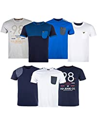 T-shirt Voi Jeans Ogden pour homme en bleu marine