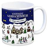Eningen unter Achalm Weihnachten Kaffeebecher mit winterlichen Weihnachtsgrüßen - Tasse, Weihnachtsmarkt, Weihnachten, Rentier, Geschenkidee, Geschenk
