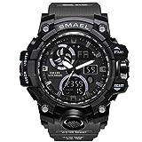 AnazoZ Reloj Impermeable Reloj de Doble Pantalla Reloj Deportivo Reloj Militar Reloj Multifunción Relojes Electronicos Gris