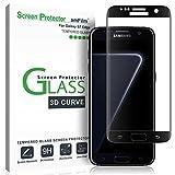 Galaxy S7 Edge Pellicola Protettiva, amFilm Copertura Totale (Curva 3D) Vetro Temperato Protezione Schermo per Samsung Galaxy S7 Edge (1 Pack, Nero)