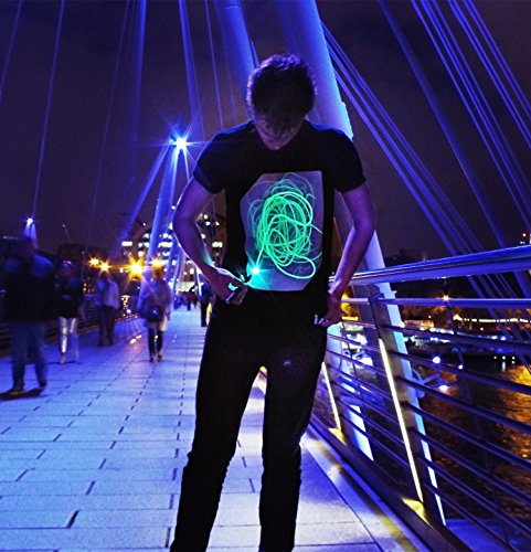 Illuminated Apparel Interaktive Leucht T-Shirt Schwarz/Grün