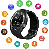 #9: IKJ Y1 Unisex Bluetooth 4g Smart Watch For Men / Boys / Girls / Women | Facebook / Whatsapp Messaging / 4g Sim Card Support / Touch Screen / Compatible with All Samsung, Xiaomi, Lenovo, Oppo Android / iOS Apple iPhone Mobile Phones(color may vary)