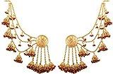 Touchstone indisches Bollywood Dev Sena, moderner, Braun, Designer-Ohrringe für Damen im Antik-Gold Ton.