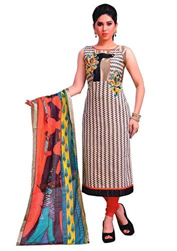 Manmandir Chanderi Silk Fabric Readymade Salwar Kameez with Printed Dupatta