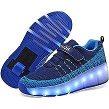 Recollect Unisex LED Automática de Skate Zapatillas con Ruedas Zapatos Patines Deportes Zapatos para Niños Niñas