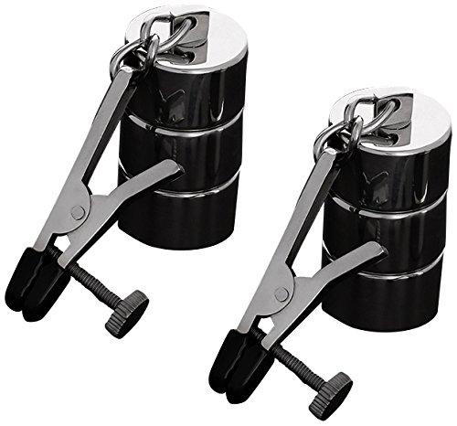 Triune 2 verstellbare Nippelklemmen + austauschbare Gewichte aus Edelstahl