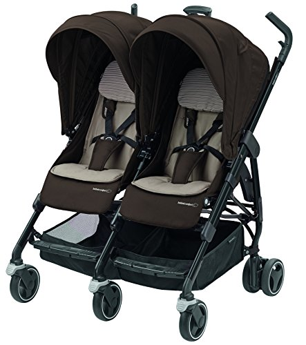 Bébé Confort Dana For2 Passeggino Gemellare Fratellare Compatto, Reversibile Reclinabile, Sedute Affiancate,...
