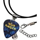 Iron Maiden Púa de Guitarra Collar de la Cuerda Necklace Blue Pearl ( GHF )