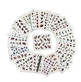 aiuin 50Teile Buntes Nagellack-französischen Nageln Tip Aufkleber Set mit verschiedenen Formen für Nail Art Maniküre Guides, 49.5* 64mm