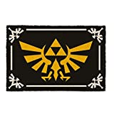 The Legend of Zelda Fußmatte Triforce Symbol Kokosfaser Schmutzfangmatte 60 x 40 cm